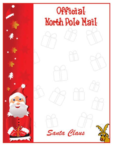letter from santa claus template free printable template list certificates