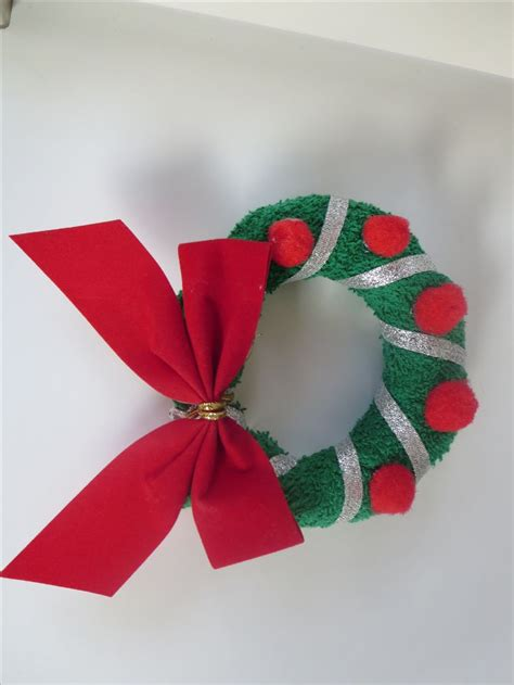 Washcloth Origami - washcloth folding craft wreath washcloth craft