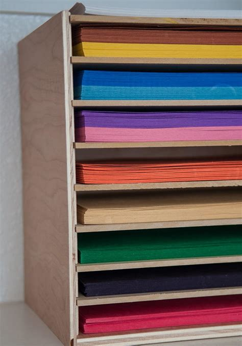 How To Store Craft Paper - saver diy paper organizer diyideacenter