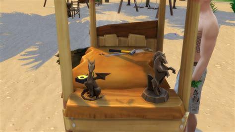 castaways woodworking table  serinion  mod  sims