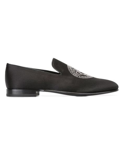 versace loafers for versace medusa loafers in black for lyst