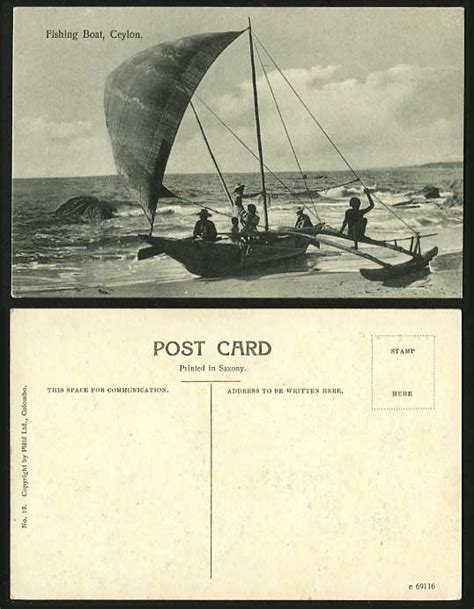 fishing boat for sale sri lanka ceylon old postcard fishermen fishing boat on beach
