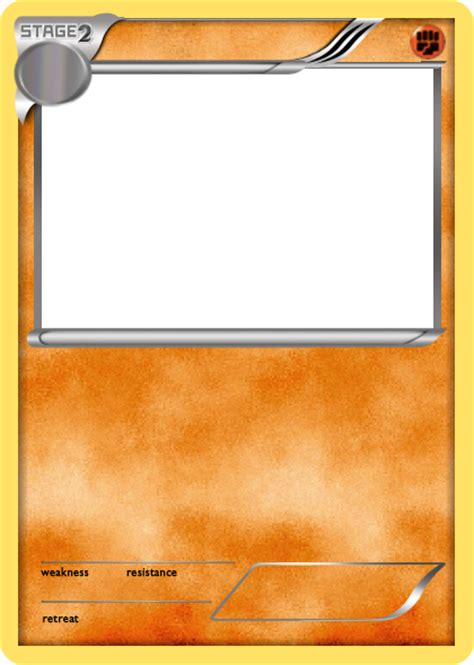 water type card template bw fighting stage 2 card blank by the ketchi on