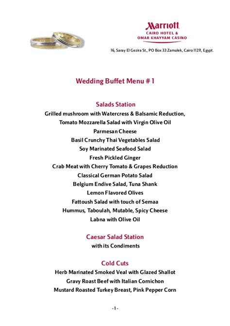 buffet menu ideas wedding buffet menus