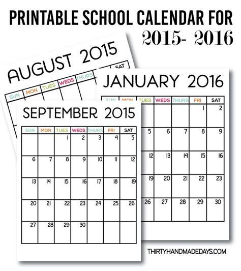 printable school year planner printable school calendar for 2015 2016 download our free