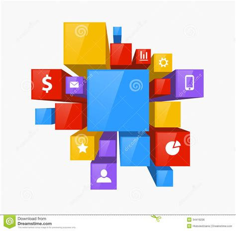 create 3d design 3d design stock vector image of layout square concept 34419236