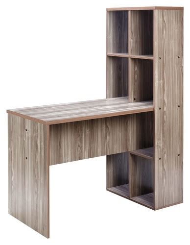 comfort products inc comfort products inc soho desk with bookshelf brown 50