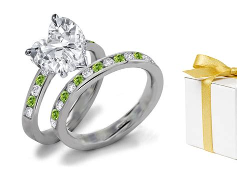 green jewelry green engagement rings at
