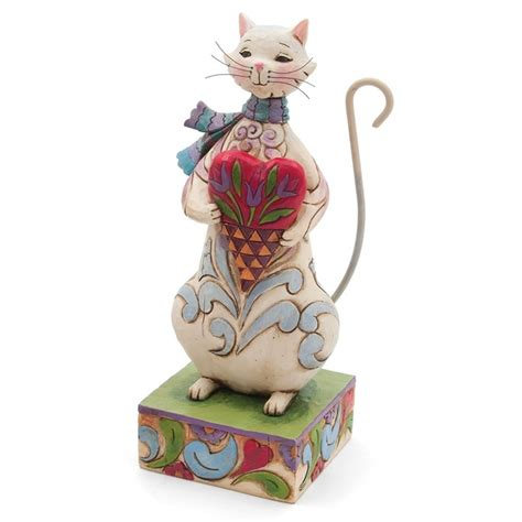 jim shore valentines day jim shore cozy cat figurine s day
