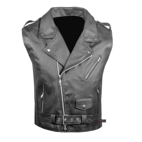biker vest s leather motorcycle biker concealed carry