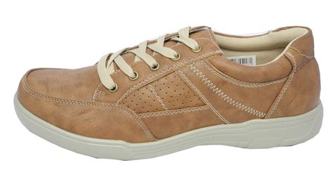 comfort leisure shoes mens leather look lightweight casual comfort leisure shoes