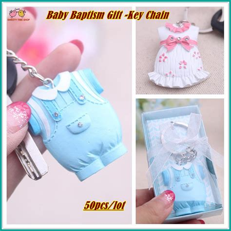 Baby Shower Return Gifts For Guests by 50pcs Lot Baby Cloth Key Chain Baby Baptism Gift
