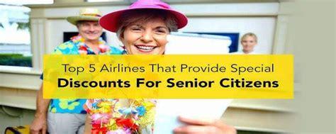 top  airlines offering senior citizen discount