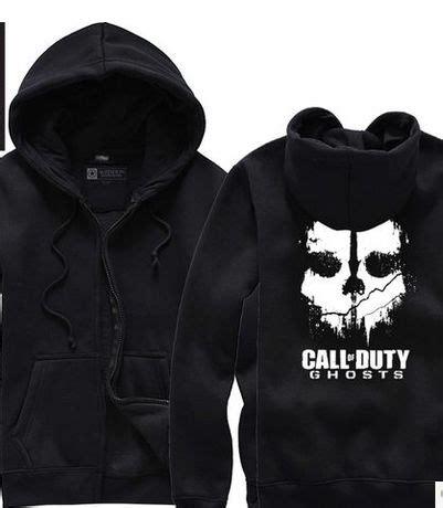Jaket Zipper Hoodie Sweater Call Of Duty Hitam 12 call of duty modern warfare mw ghosts cardigan hoodie