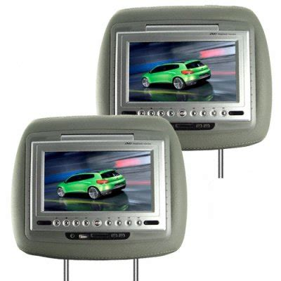 Headrest Monitor Led wholesale 7 inch lcd car headrest dvd player fm transmitter pair grey from china