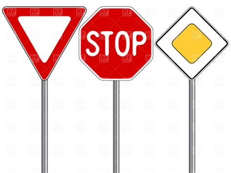sign clipart traffic signs vector illustration of signs symbols maps