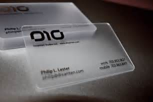 waterproof business cards 35 impressive exles of transparent and waterproof