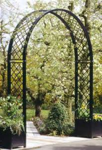 Garden Arch Metal Black Home And Outdoor Arches And Windows For A