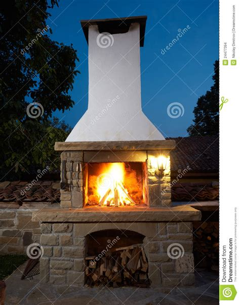 Bq Fireplace by Barbecue Fireplace Stock Images Image 24477394