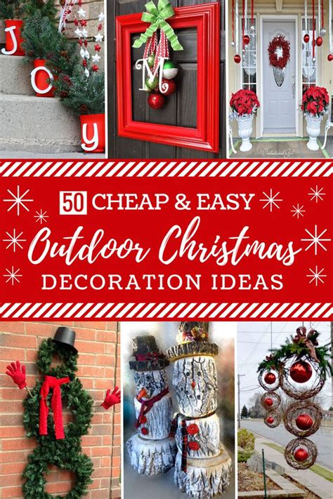 best 25 diy outdoor christmas decorations ideas on