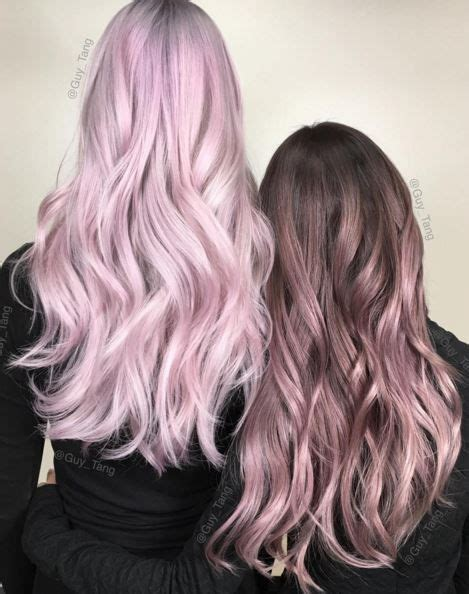 brunette hair gray riots pastel pink ombre brown www imgkid com the image kid