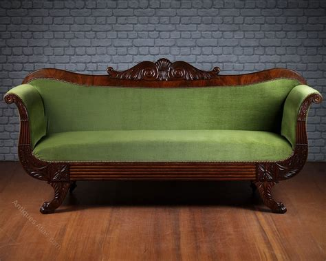 How To Clean Sofas At Home by Large Regency Mahogany Sofa C 1815 Antiques Atlas