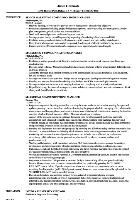 Marketing Communications Manager Resume by Marketing Communications Manager Resume Sles Velvet
