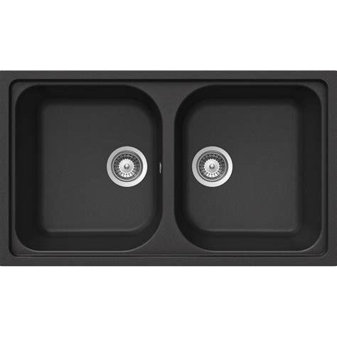 lavello nero lavello schock lithos n200 a 2 vasche cristalite nero