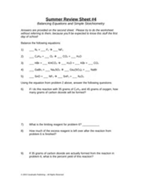 balancing equations and simple stoichiometry worksheet answers stoichiometry using molarity worksheet 2 aq 2 h 2 o l 1
