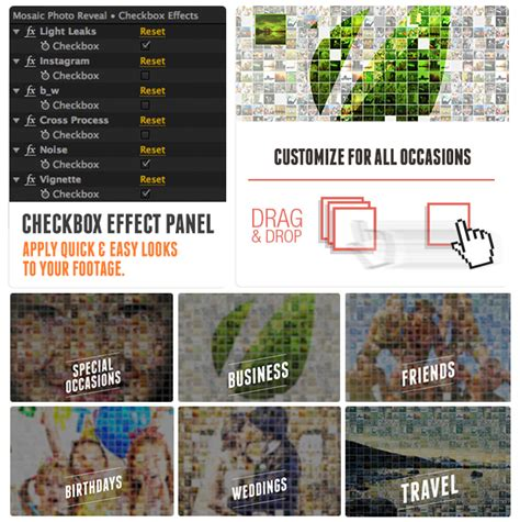 Mosaic Photo Reveal After Effects Project Files Videohive Photo Reveal After Effects Template