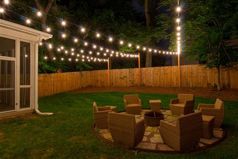 string lights backyard permanent lighting portfolio light up nashville