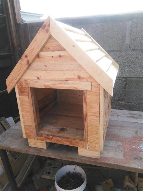 wooden dog house build a dog house from pallets