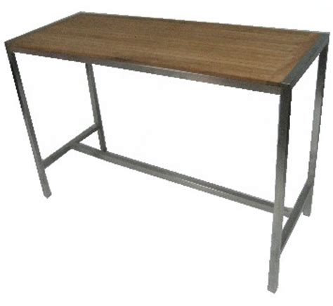 Stainless Steel Bar Table Titan Stainless Steel Teak Bar Table