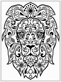 realistic lion coloring pages free realistic