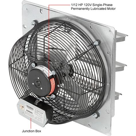 exhaust fan with shutter exhaust ventilation fan with shutter 12 quot 3 speed with hardware