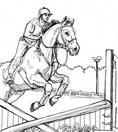 coloring pages horses jumping jumping horse animal coloring pages kids color horses