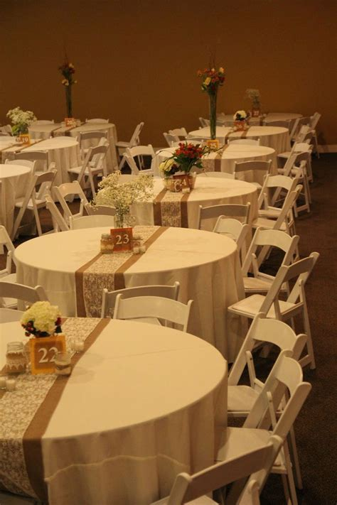 Fall Wedding. Burlap and lace table runner. Simple