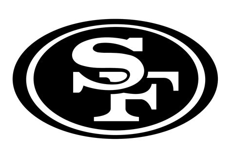 logo black and white referee san francisco 49ers logo png transparent svg vector freebie supply