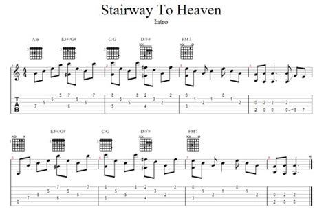 tutorial piano stairway to heaven stairway to heaven free guitar pro tab