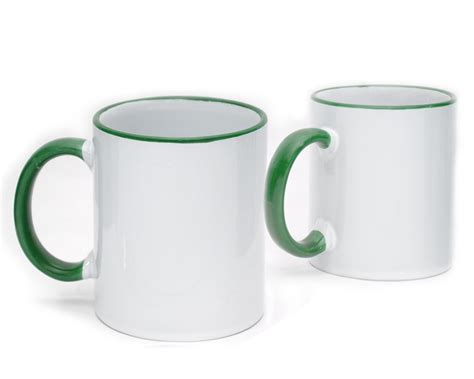 Handle Green Coffee coffee mug ceramic green color handle wholesale