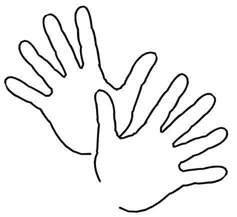 hands coloring page free free outline of hands coloring pages