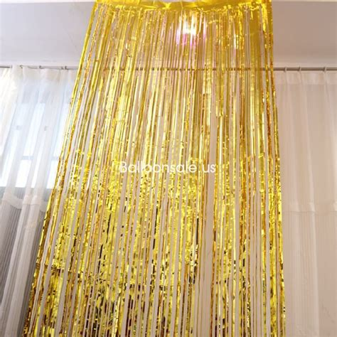 Buy Black Foil Fringed Door Curtain 2 4m Party Door