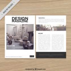 decoration magazine template vector free