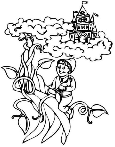 For Jack And The Beanstalk Castle Coloring Pages Coloring And The Beanstalk Coloring Page