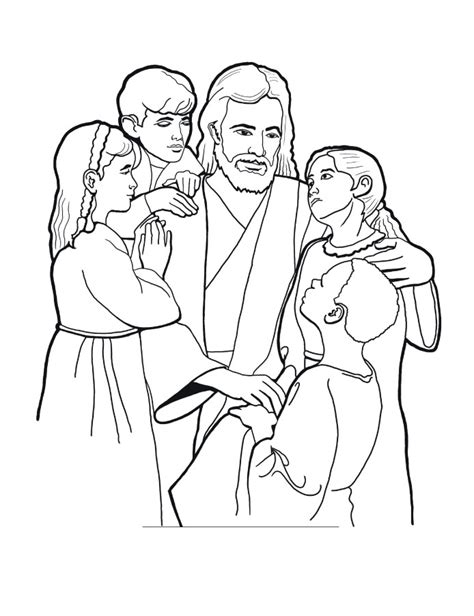 Jesus Children Coloring Page free printable jesus coloring pages for