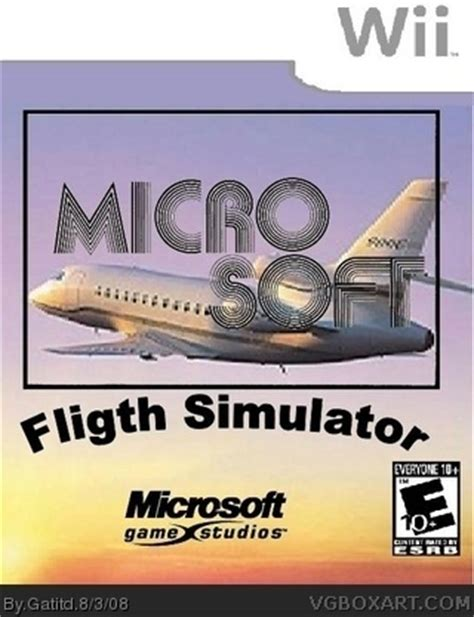 microsoft flight simulator 2008 wii box art cover by gatitd