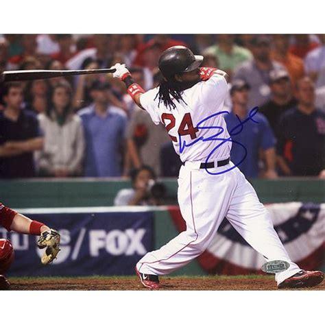 Manny Ramirez Swing by Manny Ramirez 2007 Alds Swing 8x10 Photo