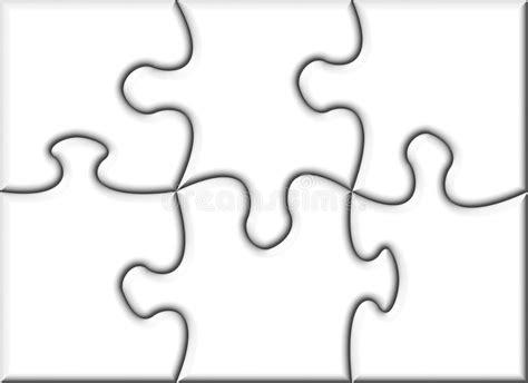 Beautiful Blank Transparent Jigsaw Puzzle Stock Illustration Illustration Of Concept 6 Jigsaw Puzzle Template
