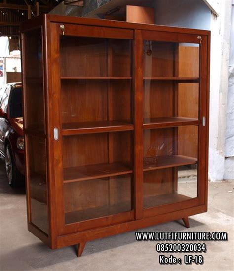 Rak Buku Jati Jepara jual rak buku minimalis model rak buku pintu sliding kayu jati lutfi furniture jepara ukir