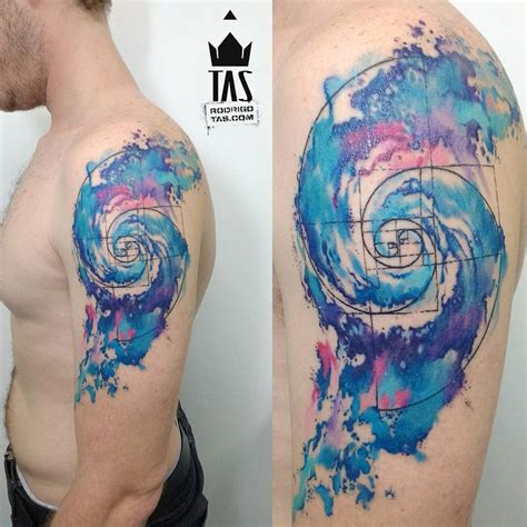 golden spiral tattoo 40 spiral tattoos on arm